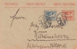 Deutsches Reich Hautes Silesie Postkarte P3 1920 - Non Classés