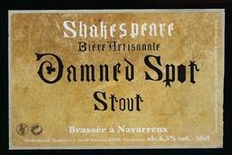 Etiquette Biere Artisanale Shakespeare 6,5% 50 Cl Dammed Spot Stout   Brasserie Shakespeare Navarrenx - Beer