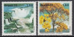 Brazil 1978 - Environment Protection: Iguacu Falls National Park - Mi 1668-1669 ** MNH - Unused Stamps