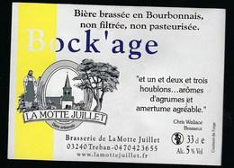 Etiquette Biere Bock'age 5% 33 Cl   Brasserie La Motte Juillet  Treban  03 - Beer