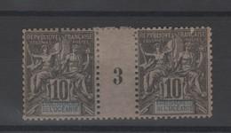 Océanie  établissement  _  1  Millésimes 1893  N°5 - Oceanië (1892-1958)