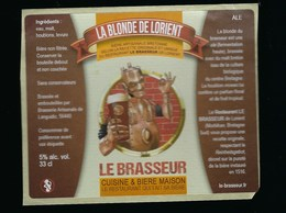 Etiquette Biere La Blonde De Lorient 5% 33 Cl Le Brasseur Cuisine & Biere Maison Le Restaurant Qui Fait Sa Bière Languid - Beer