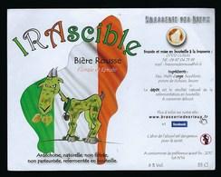 Etiquette Biere Rousse  6% 33 Cl Irascible Brasserie Des Rieux - Beer