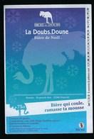 """Etiquette Biere De Noël   5% 75cl  La Doubs Donne  Biere Du Doubs  Brasserie De Nancray 25 """"autruche"""" - Beer"""