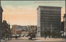 Main Street, Looking South, Winnipeg, Manitoba, C.1910 - Valentine's Postcard - Winnipeg