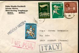 36886 South Of Korea, 4 Circuled Cover To Italy As Scans - Korea, South