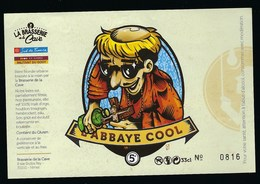 Etiquette Biere  Blonde Urbaine   5% 33cl  L'Abbaye Cool  Brasserie De  La Vacecave Nimes 30 - Beer