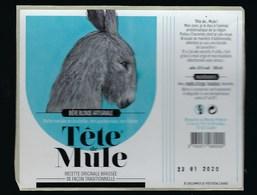Etiquette Biere Blonde Artisanale 5% 33cl   Tête De Mule  Brasserie Du Marais Poitevin  Coulon 79 - Beer