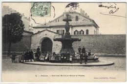 """1 Cpa Provins - Fontaine Mattelin Boyer Et Prison """"pionnière 1906"""" - Provins"""