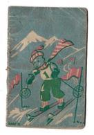 Calendriers - Illustrateur P. Mary  ? - Ski - Puy De Dome - Thiers - Petit Almanach 1945 - Publicité Pharmacie Lavergne - Calendars