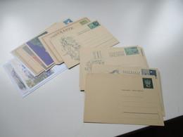 Liechtenstein Posten Ganzsachen Karten 1959 - 1980er Jahre Insgesamt 28 Stück Ungebraucht!! Auch Frage / Antwort - Stamped Stationery
