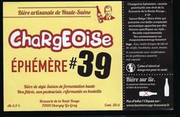 Etiquette Biere Artisanale Sur Lie 6,9% 50cl   Chargeoise éphémère #39  Brasserie De La Rente Rouge Chargey Les Grey Hau - Beer