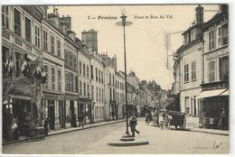 1 Cpa Provins - Place Et Rue De Val - Provins