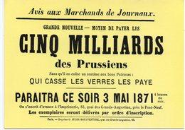 CPM - MUSEE DE L'AFFICHE ET DU TRACT - 222 - LES MURAILLES DE PARIS - Le 3 Mai 1871 - Storia