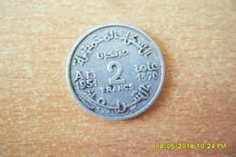 "Deux Monnaies ""Empire Chérifien""Maroc=/2 Francs Et 5 Francs 1951 En TTB(4 Photos) - Marruecos"