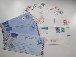 New Zealand Posten Ganzsachen Aerogramme 1977 - 1981 Insgesamt 21 Stück Umschläge Panpex 77 Christchurch - Postal Stationery