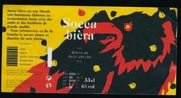 "Etiquette Biere Blonde Socca 6% 33cl  Brasserie  SBN Nice 06 ""aigle"" - Beer"
