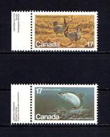 CANADA    1980    Endangered  Species    (4th Series)    Set  Of  2    MNH - 1952-.... Reign Of Elizabeth II