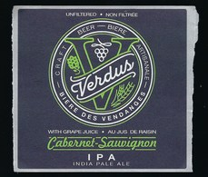 Etiquette Biere  Artisanale Des Vendanges Verdus IPA - Beer