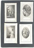 Lot N° 2 De 4 Images Pieuses Bords Dentelles ( Canivet ) - Religion (b235) - Images Religieuses