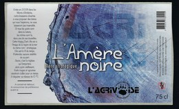 """Etiquette Biere  Stratégique Noire  L'Amère  75cl  Brasserie L'Agrivoise Saint Agreve 07  """"patte Ours"""" - Beer"""
