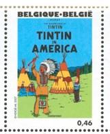 18/08  Belgique XX Herge Tintin En Amerique Indien - American Indians