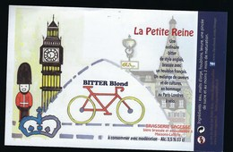 Etiquette Biere  Blonde La Petite Reine 3,5%  33 Cl  Brasserie Sagesse  Maisons Lafitte - Beer