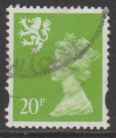 Scotland Decimal Defins 1993 Queen Elizabeth II - New Values & Colors 20p Yellowish Green SW 65 O Used - Regional Issues