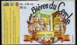Etiquette Biere  Blonde Type Pils Du Cercle 4,5%  50 Cl  Brasserie   Lignol 56 - Beer