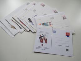Slowakei Posten Ganzsachen Karten 90er Jahre - 2000 Jahre Insgesamt 88 Stück Auch Umschläge. Ungebraucht - Cartas