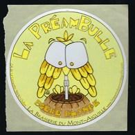 """Etiquette Biere Blonde   La Préambule  Brasserie   Du Mont Aiguille Clelles 38 """"hibou Ou Chouette"""" - Beer"""