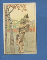 Maison Belle Jardinière Paris Jolie Carte Postale Chromo Illustrateur Job Scoutisme Scout Escalade Scouts - Non Classés