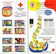 """CARNET BC 1422 """"PARTOUT OU VOUS AVEZ BESOIN DE NOUS"""" Autoadhésif, Neuf Luxe NON PLIE Bas Prix. - Croix Rouge"""