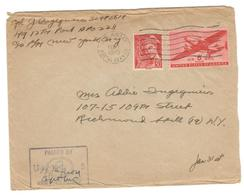 6084 - Affranchissement Mixte USA/FRANCE - Covers & Documents