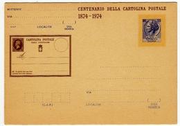CENTENARIO DELLA CARTOLINA POSTALE - 1874 - 1974 - Vedi Retro - Francobolli (rappresentazioni)