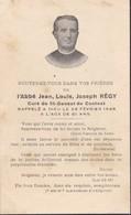 AVIS DE  DECES ,,L' ABBE  JEAN  LOUIS  JOSEPH   REGY ,   CURE DE ST  GENEST DE  CONTEST EN 1948 , A L' AGE DE 81 ANS ,,, - Obituary Notices