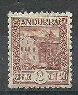 ANDORRA CORREO ESPAÑOL  BONITO SELLO Nº 28 Con Fijasellos (S.1.C.08.18) - Andorre Espagnol