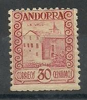 ANDORRA CORREO ESPAÑOL  BONITO SELLO Nº 36 CON FIJASELLOS (S.1.C.08.18) - Andorre Espagnol