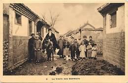 Pays Div : Ref M345- Chine - China - Missions Franciscaines - La Visite Des Districts  - Carte Bon Etat - - Chine