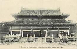 Pays Div : Ref M342- Chine - China -tombeau Des Empereurs Aux Si Ling - Pekin /tache Au Verso - Carte Bon Etat  - - Chine