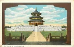 Pays Div : Ref M341- Chine - China -the Temple Of Heaven -/ Etat : Petit Pli Coin Bas Gauche De La Carte  - - Chine