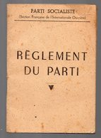 Livret REGLEMENT DU PARTI SFIO 1946 (PPP14383) - Unclassified