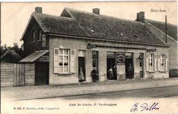 1 Oude  Postkaart   Broechem  Café De Statie Wachtzaal Tram  F.Verbruggen  Estaminet  Logement  Uitg. Hoelen N°405  1905 - Ranst