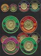 1966 SIERRA LEONE 305-10+  PA  50-55 ** Monnaies D'or, Timbres Ronds, RARE - Sierra Leone (1961-...)