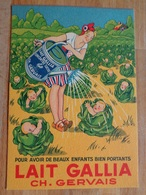 CARTON A DECOUPER LAIT GALLIA Ch. GERVAIS TBE 11,5 X 16,5 CM BEAUX ENFANTS BEBES CHOUX - Old Paper
