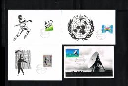1973 - Netherlands Max.Card NVPH 1032-35 - Misc.Topics - Hockey - Gymnastics - Groundstation - Weather Forecast [KC008] - Maximumkaarten