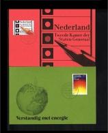 1977 - Netherlands Max.Card NVPH 1128-29A - Misc.Topics - Energy - Dutch Elections [KC019] - Maximumkaarten