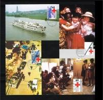 1983 - Max.cards Zegelkoerier 11, 12, 13 And 14 - Red Cross [KD007] - Maximumkaarten