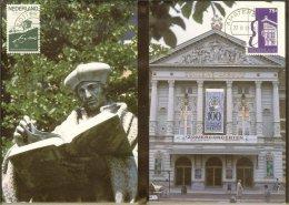 1988 - Max.cards Zegelkoerier 18 And 19 - Erasmus - Concert Hall [KD036] - Cartes-Maximum (CM)