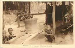 Pays Div : Ref M325- Viet Nam - Vietnam - Saigon  - Decorticage Du Paddy - Carte Bon Etat - - Viêt-Nam